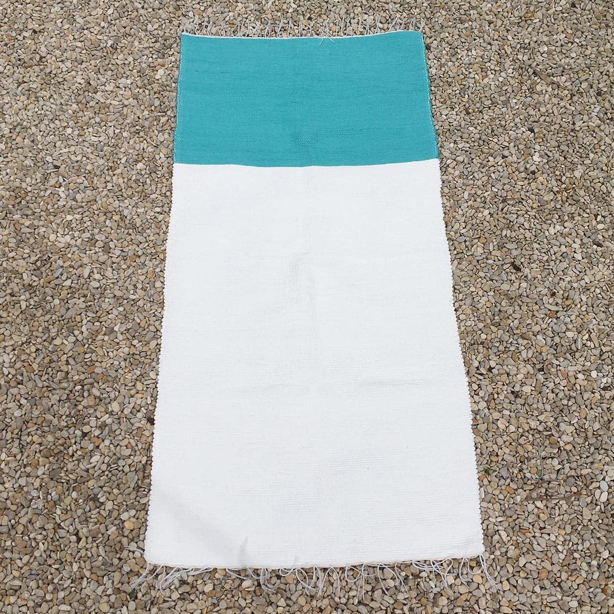 bicolor azuur - wit
