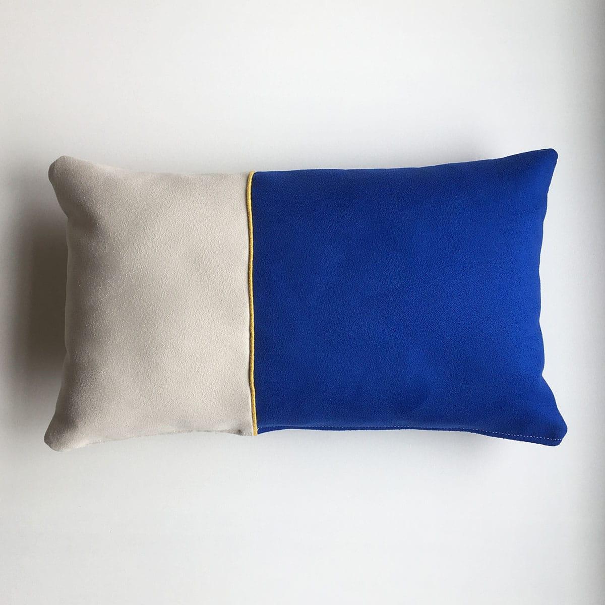 fijne streep wit - geel - blauw