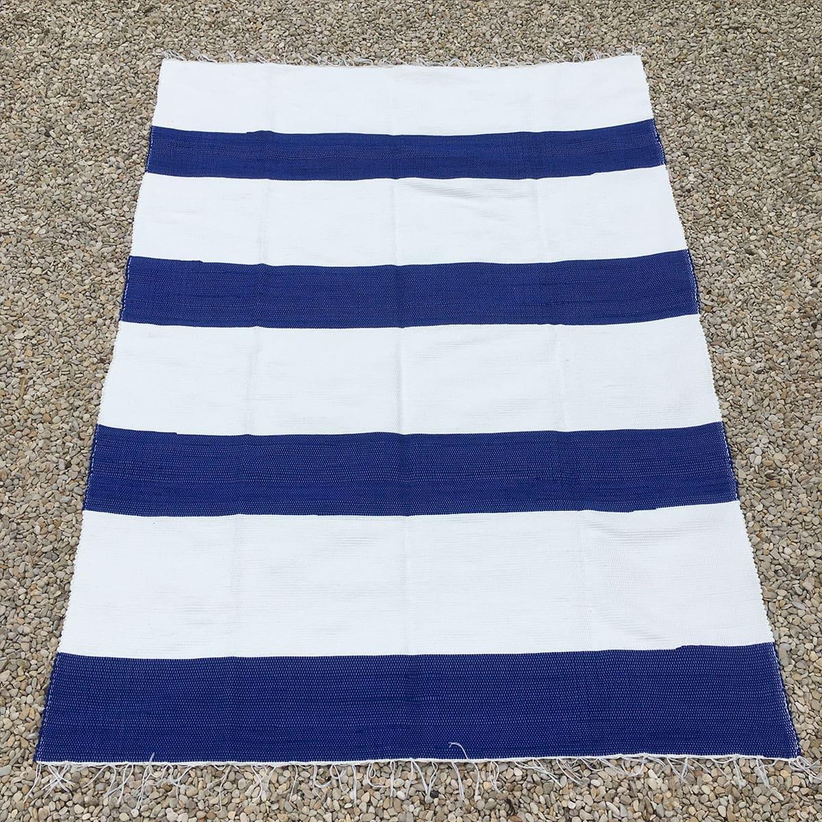 streep blauw - wit
